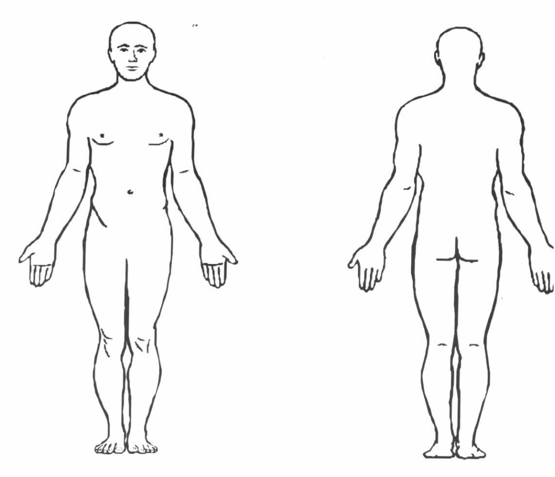Blank Human Body Diagram . Blank Human Body Diagram Human In Blank Body Map Template