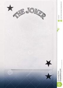 Blank Joker Card Stock Image. Image Of Concept, Prankster with Joker Card Template