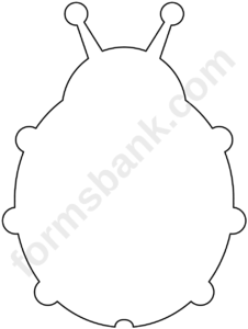 Blank Ladybug Template Printable Pdf Download Throughout Blank Ladybug Template