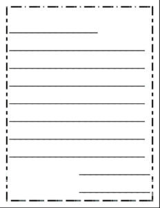 Blank Letter Writing Template | Free Letter Templates with regard to Blank Letter Writing Template For Kids