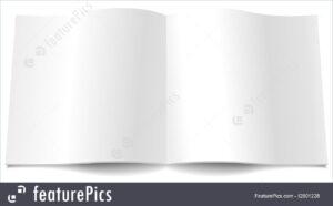 Blank Magazine Spread Illustration with regard to Blank Magazine Spread Template
