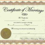 Blank Marriage Certificates Printable   Thekpark-Hadong throughout Blank Marriage Certificate Template