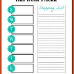 Blank Meal Plan Template Word Editable Weekly Planner Pertaining To Weekly Meal Planner Template Word