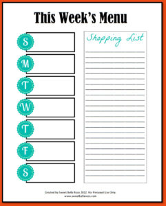 Blank Meal Plan Template Word Editable Weekly Planner pertaining to Weekly Meal Planner Template Word