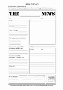 Blank Newspaper Template – Locksmithcovington Template with Blank Newspaper Template For Word