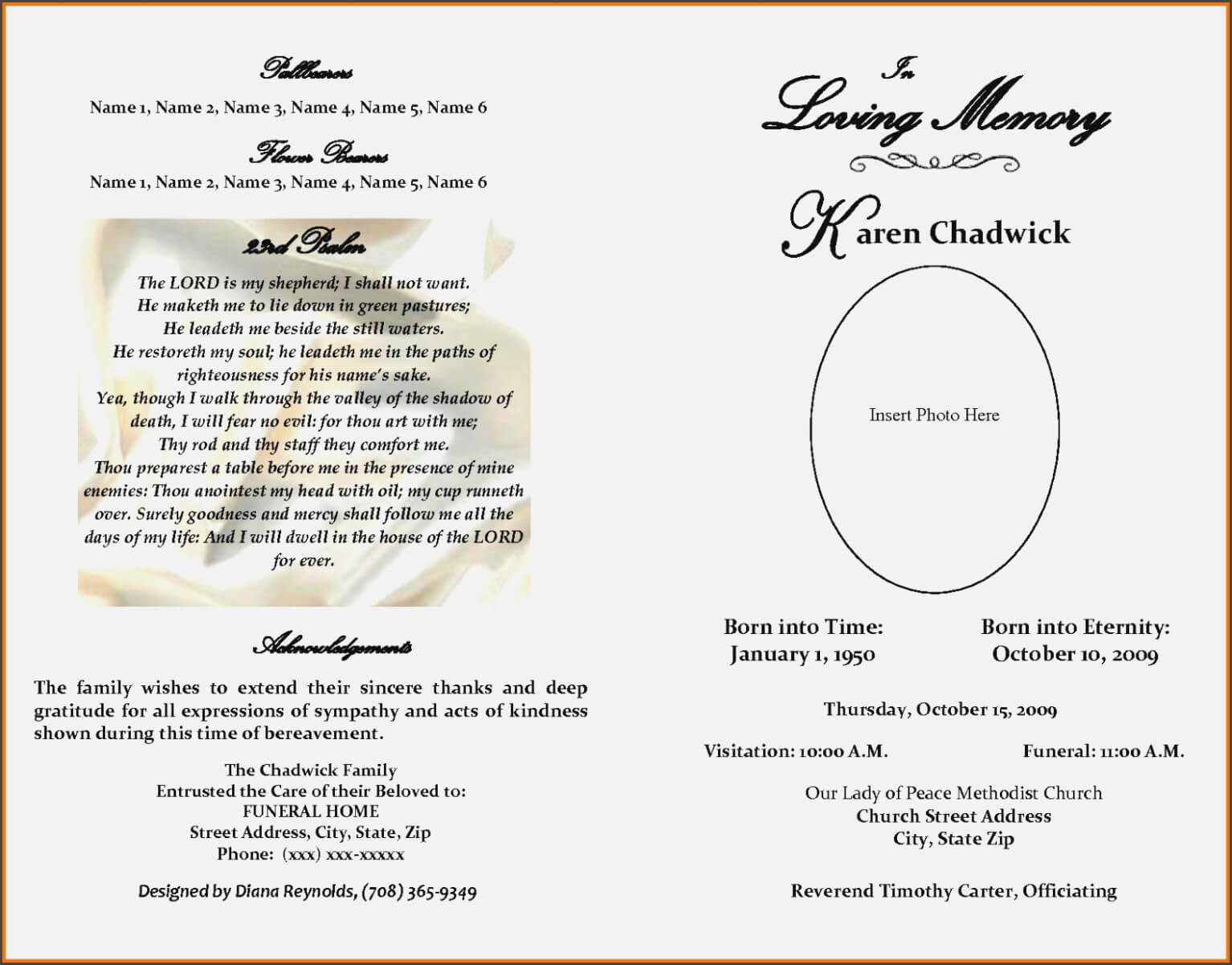 Blank Obituary Template – Bino.10Terrains – Form Information Pertaining To Fill In The Blank Obituary Template