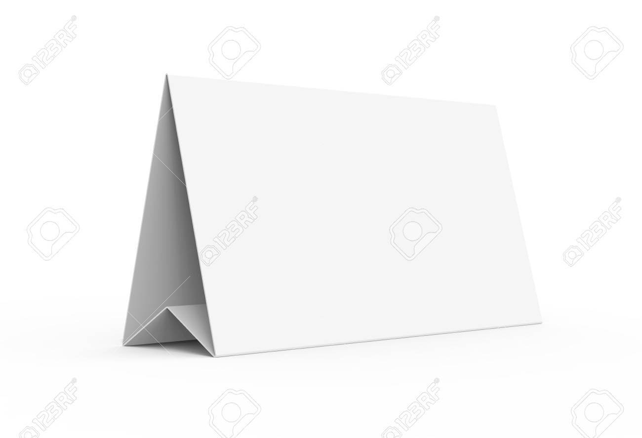 Blank Paper Tent Template, White Tent Card With Empty Space In.. Throughout Blank Tent Card Template