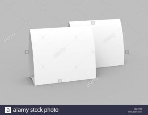 Blank Paper Tent Template, White Tent Cards Set With Empty in Blank Tent Card Template
