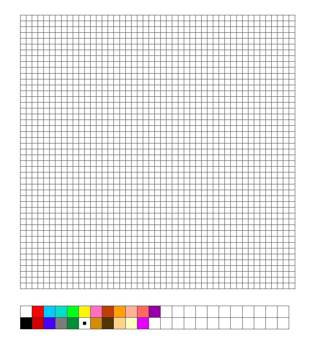Blank Perler Bead Template | Chart Designs Template In Blank Perler Bead Template