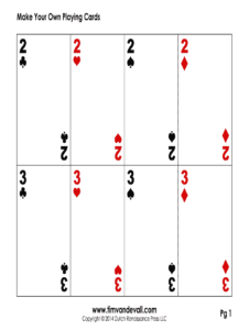 Blank Playing Card Template Pdf – Fill Online, Printable with Deck Of Cards Template