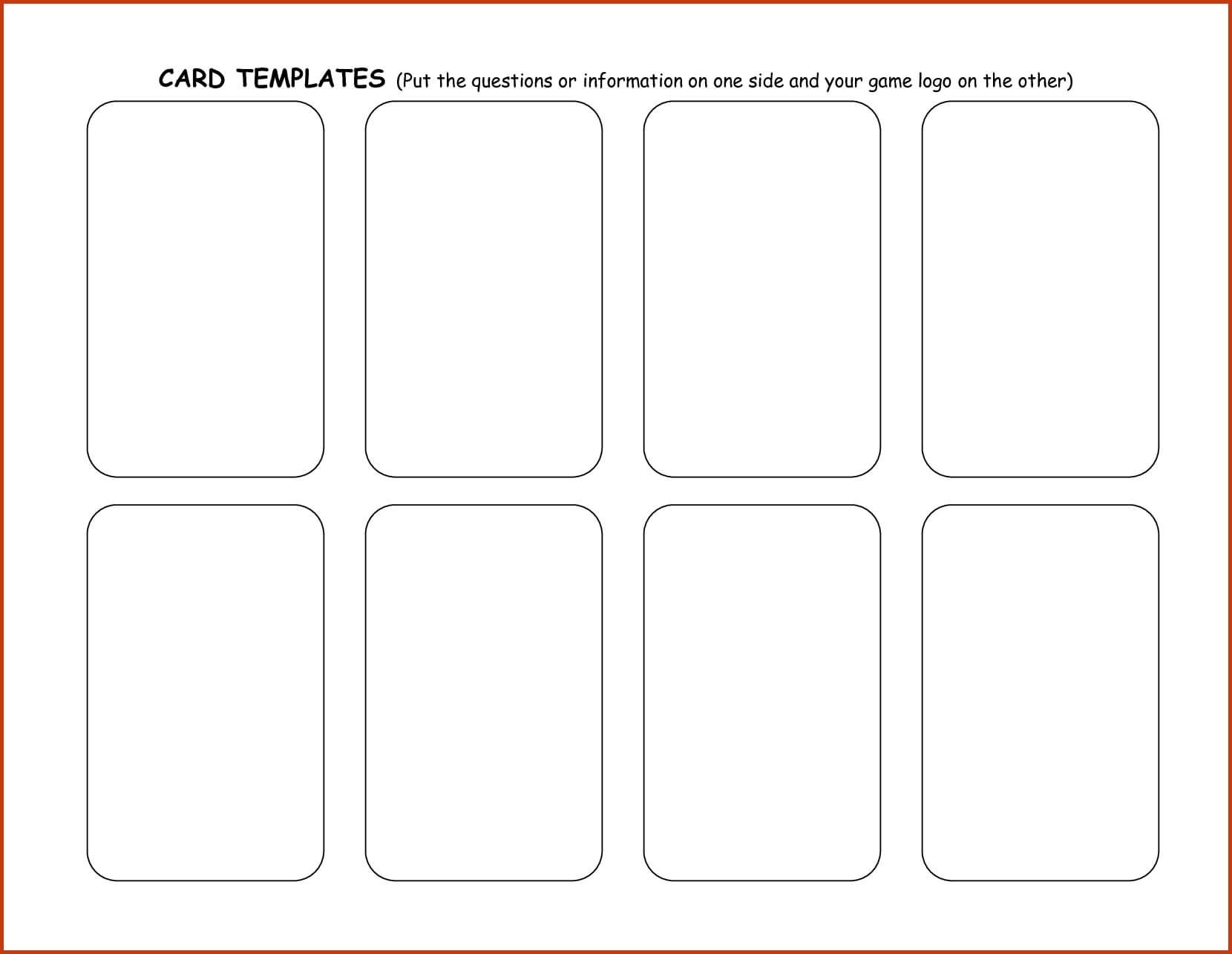 Blank Playing Card Template | Theveliger Pertaining To Blank Playing Card Template