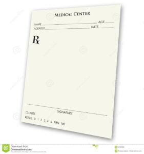 Blank Prescription Pad Stock Illustration. Illustration Of with Blank Prescription Form Template