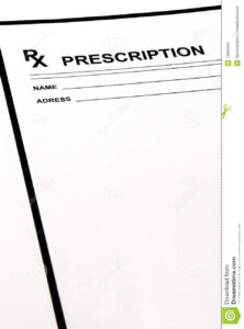 Blank Prescription Pad Stock Photo. Image Of Hospital – 13985916 regarding Blank Prescription Pad Template