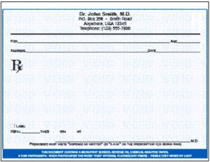 Blank Prescription Pad Template – Verypage.co pertaining to Blank Prescription Form Template