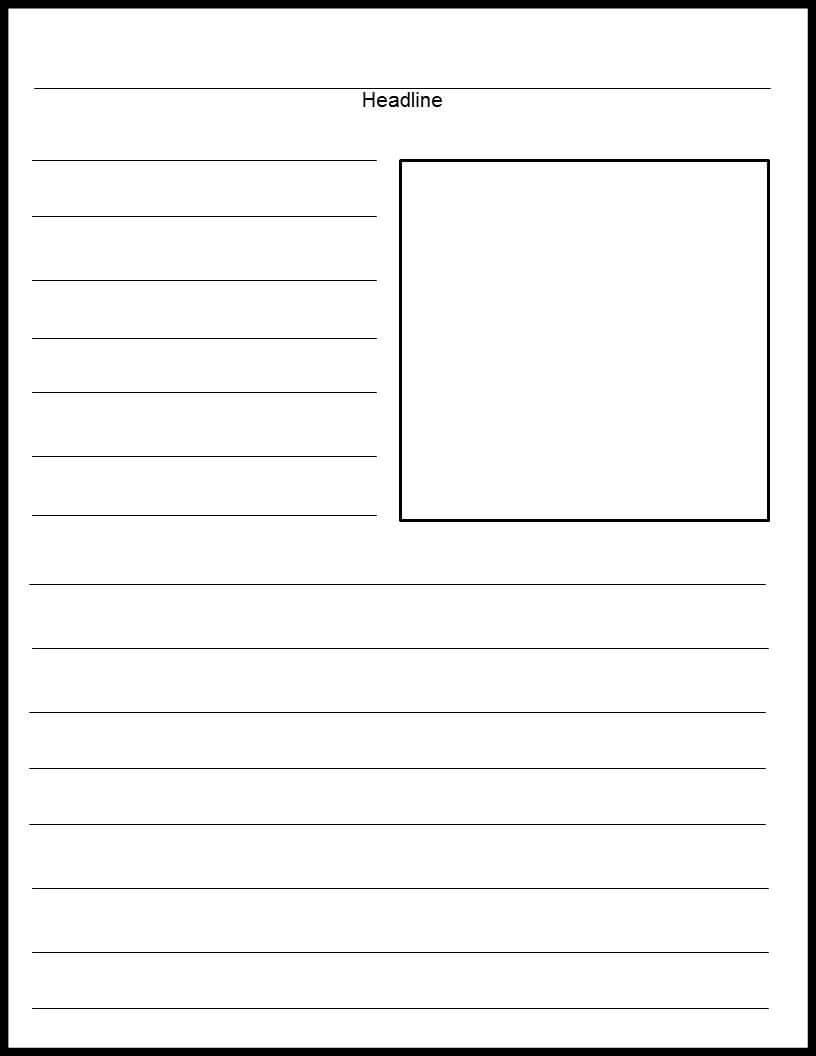 Blank Print News Article Template | Templates | Newspaper Pertaining To News Report Template