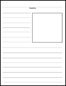Blank Print News Article Template | Templates | Newspaper regarding Blank Newspaper Template For Word