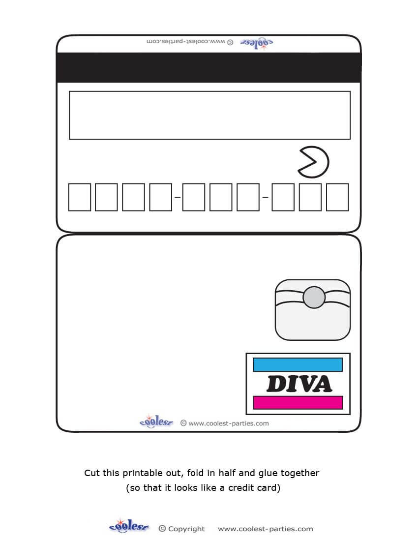 Blank Printable Diva Credit Card Invitations - Coolest Free For Credit Card Template For Kids