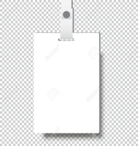 Blank Realistic Identity Card Badge With Ribbon Mockup Cover.. regarding Blank Suitcase Template