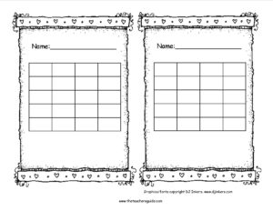 Blank Reward Chart Template – Hizir.kaptanband.co inside Blank Reward Chart Template