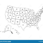 Blank Similar Usa Map Isolated On White Background. United Within Blank Template Of The United States