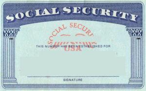 Blank Social Security Card Template   Social Security Card for Georgia Id Card Template