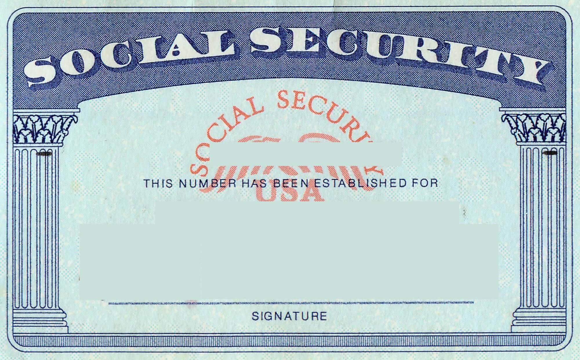 Blank Social Security Card Template | Social Security Card With Ssn Card Template