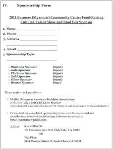 Blank Sponsor Form Template Free – Balkoncccoffe regarding Sponsor Card Template