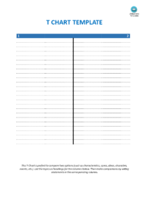 Blank T Chart Template | Templates At Allbusinesstemplates with regard to T Chart Template For Word