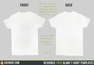 Blank T-Shirt – Cg Cookie intended for Blank T Shirt Design Template Psd