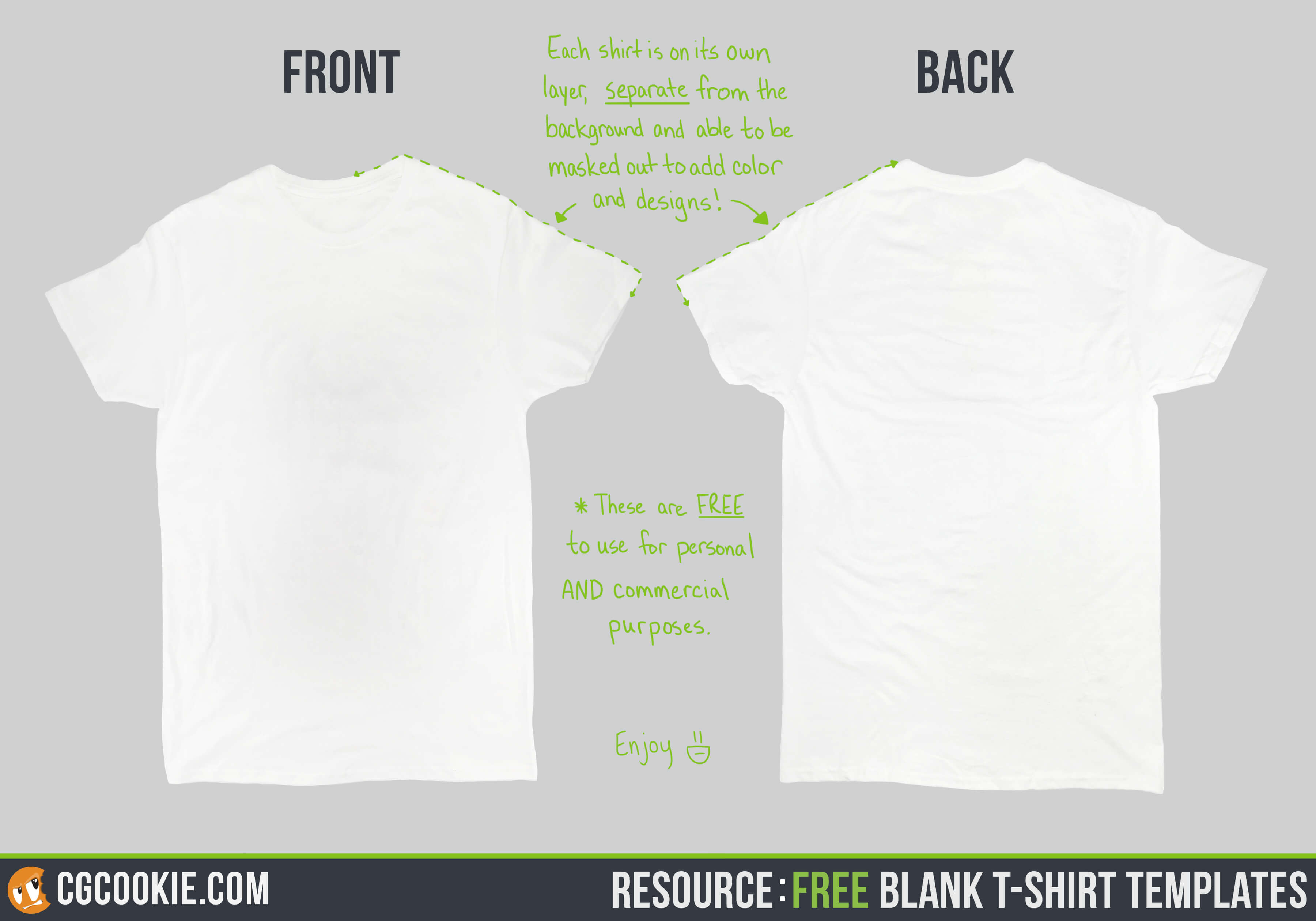 Blank T Shirt – Cg Cookie Intended For Blank T Shirt Design Template Psd