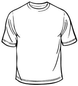 Blank T Shirt Coloring Sheet Printable | T-Shirt Coloring Page throughout Blank Tshirt Template Printable