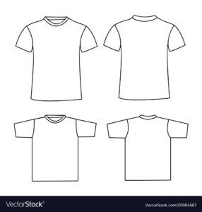 Blank T-Shirt Template Front And Back inside Blank Tee Shirt Template