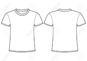 Blank T-Shirt Template Front And Back Royalty Free Cliparts throughout Blank T Shirt Outline Template