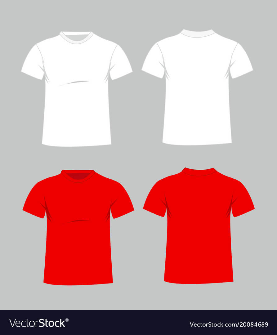 Blank T Shirt Template Front And Back Vector | Rldm Throughout Blank T Shirt Design Template Psd