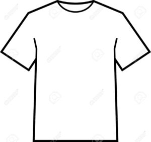 Blank T-Shirt Template Vector in Blank Tee Shirt Template