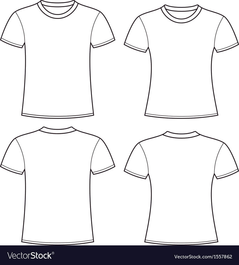 Blank T Shirts Template Intended For Blank Tshirt Template Pdf