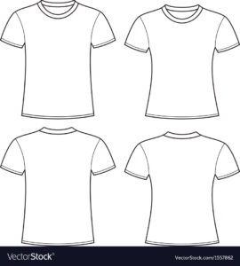 Blank T-Shirts Template Royalty Free Vector Image regarding Blank T Shirt Outline Template