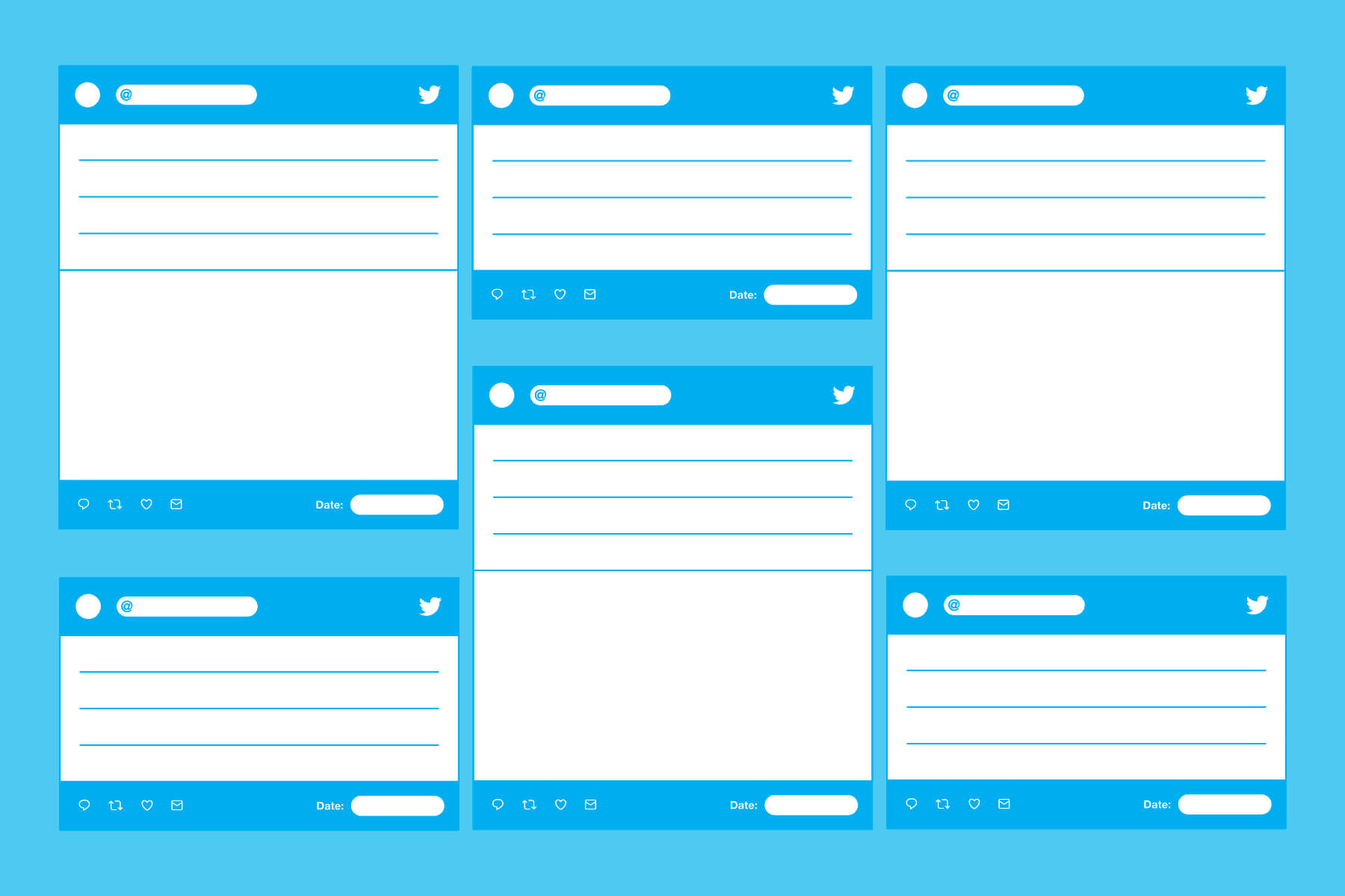 Blank Templates For Creating Printable Tweets With Blank Twitter Profile Template