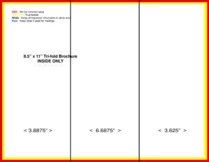 Blank Tri Fold Brochure Template Free Download | Theveliger with 3 Fold Brochure Template Free Download