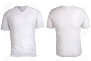 Blank V-Neck Shirt Mock Up Template, Front, And Back View, Isolated,.. within Blank V Neck T Shirt Template