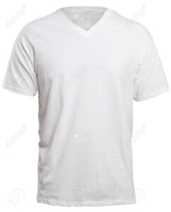 Blank V-Neck Shirt Mock Up Template, Front View, Isolated On.. intended for Blank V Neck T Shirt Template