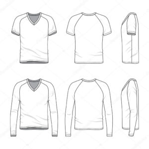 Blank V-Neck T-Shirt And Tee. — Stock Vector © Aunaauna2012 for Blank V Neck T Shirt Template