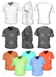 Blank V-Neck T-Shirt Design Template Stock Vector Image regarding Blank V Neck T Shirt Template