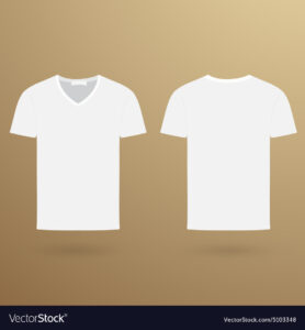 Blank V T-Shirt Template Front And Back for Blank V Neck T Shirt Template