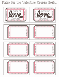 Blank Valentine Coupon Book.pdf – Google Drive | Bunco Intended For Blank Coupon Template Printable