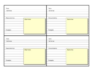 Blank Vocabulary Card Template | Frayer Models | Vocabulary in Blank Index Card Template