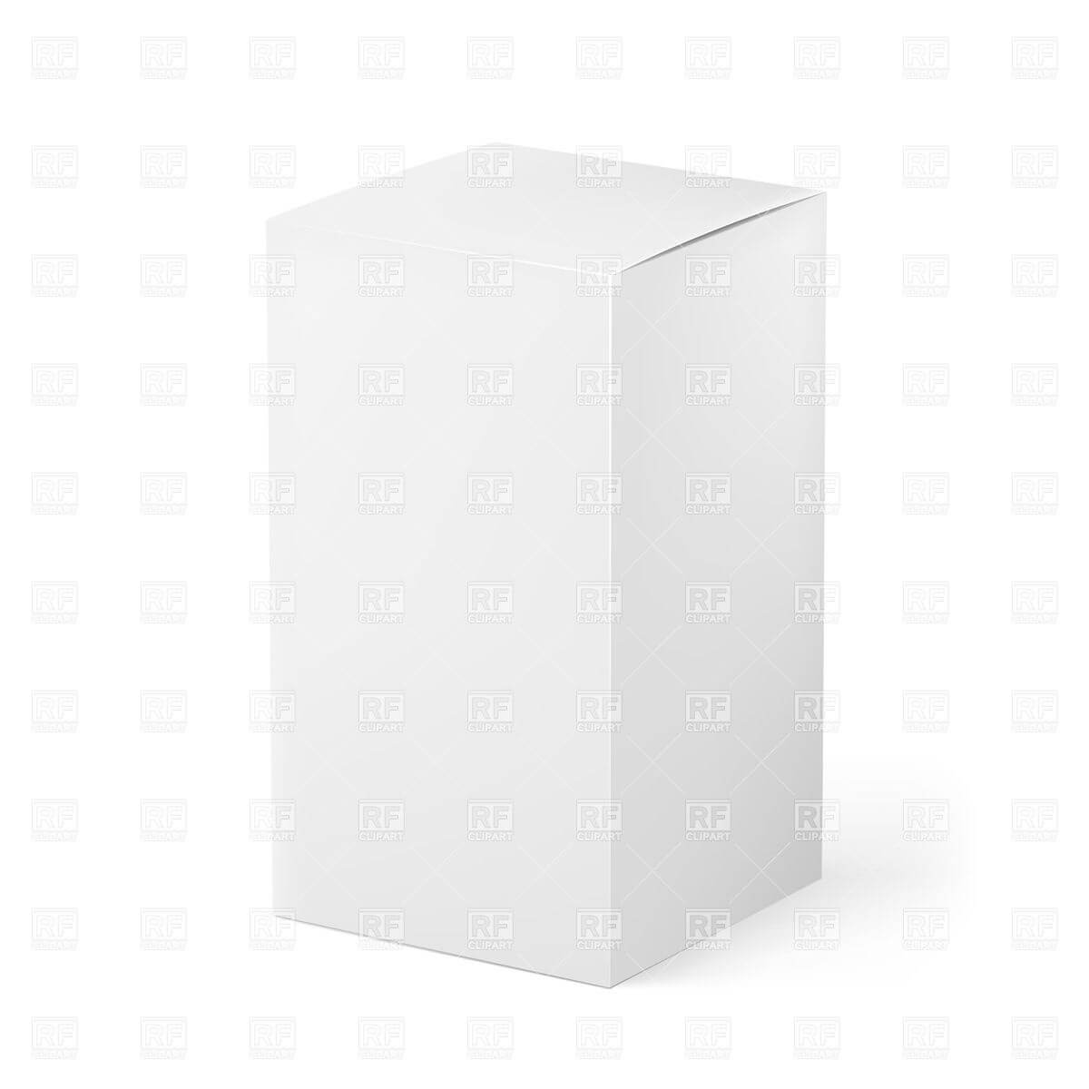 Blank White Box – Package Template Stock Vector Image Intended For Blank Packaging Templates