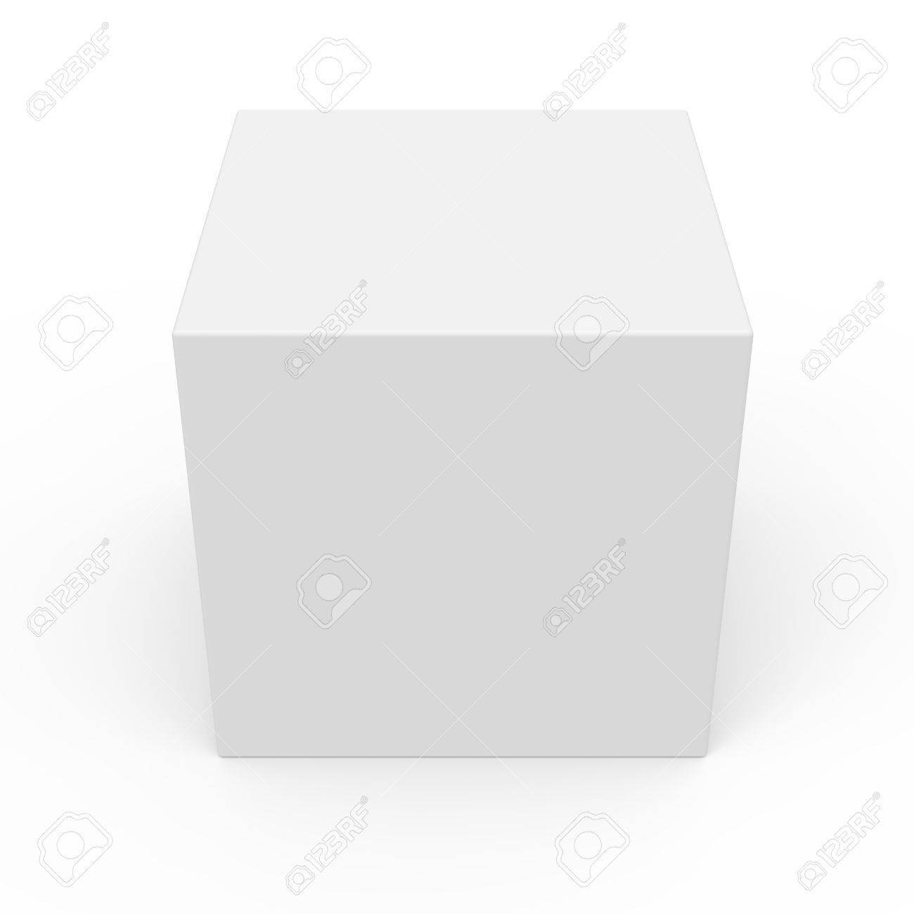 Blank White Box Packaging Template, 3D Rendering Isolated White.. In Blank Packaging Templates