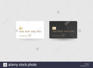 Blank White Credit Card Mockup Isolated, Clipping Path intended for Credit Card Templates For Sale