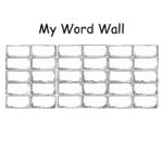 Blank+Printable+Word+Wall+Templates | Descriptive Words For Blank Word Wall Template Free